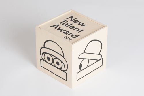 Toykyo New Talent Award shipping box in plywood